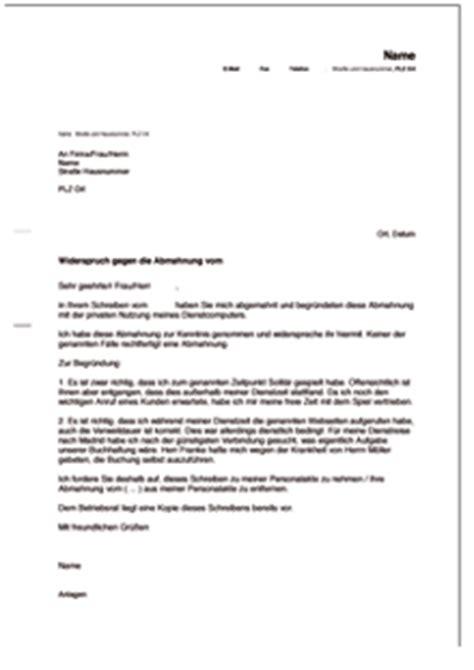 Musterbrief Einspruch Vollstreckungsbescheid Gegendarstellung Zur Abmahnung Wegen Privater Nutzung Des Firmen Computers De Musterbrief