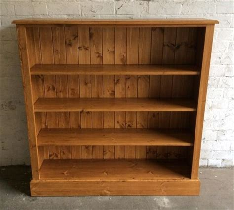 4 Foot High Bookcase by Huddersfield Pine Oak Furniture Bookcases