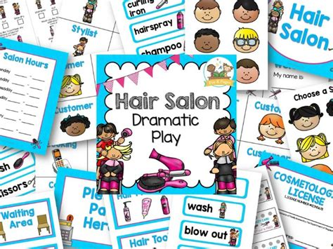 hair salon to play dramatic play hair salon printables pre k pages