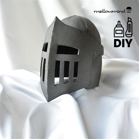 diy knight helmet template for eva foam version b