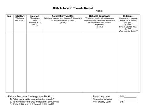 best cbt 17 best images of cognitive behavioral thought worksheets