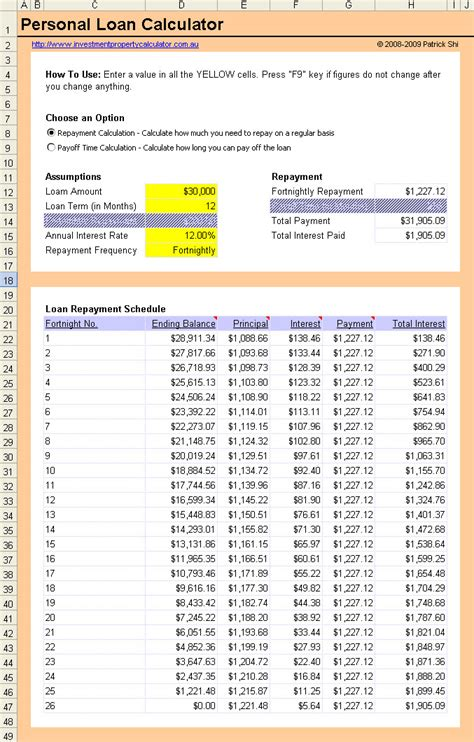 housing loan repayment schedule loan worksheet abitlikethis