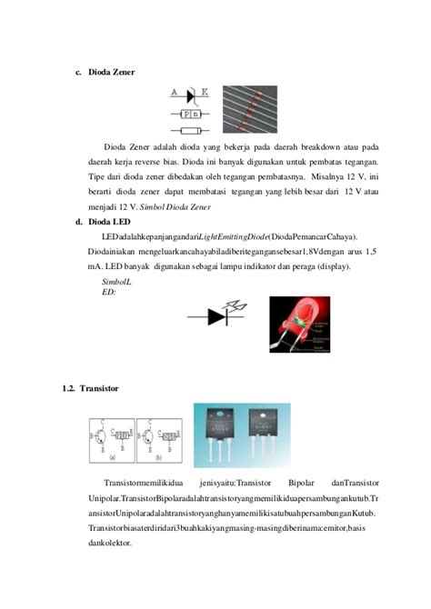 dioda silikon 1n4001 makalah komponen elektro