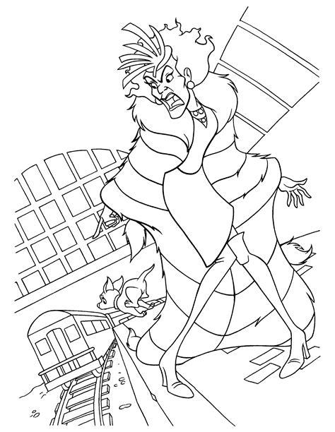 102 Dalmatians Coloring Pages Coloringpages1001 Com Cruella De Vil Coloring Pages
