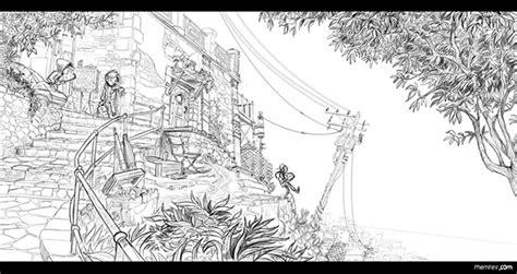 animation bg layout 2d background design workflow on wacom gallery