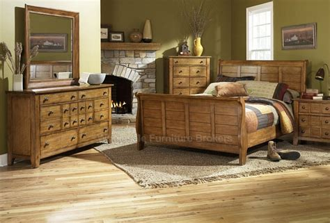 caign bedroom furniture grandpa s cabin oak sleigh bed rustic bedroom furniture