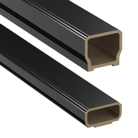 banister kits shop deckorators 72 in black composite deck railing kit at