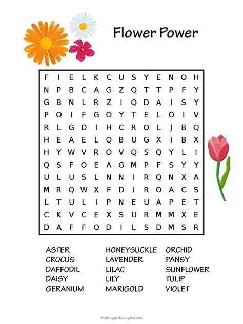 printable games about flowers this flower word search puzzle for kids would make a great