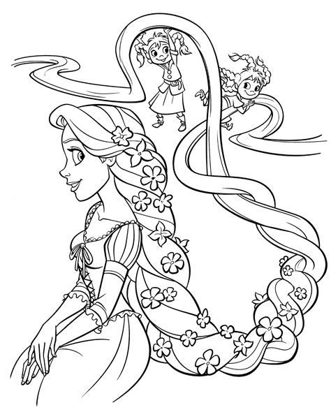 Coloring Ws Coloring Pages malmichaus ausmalbild malvorlage rapunzel 4