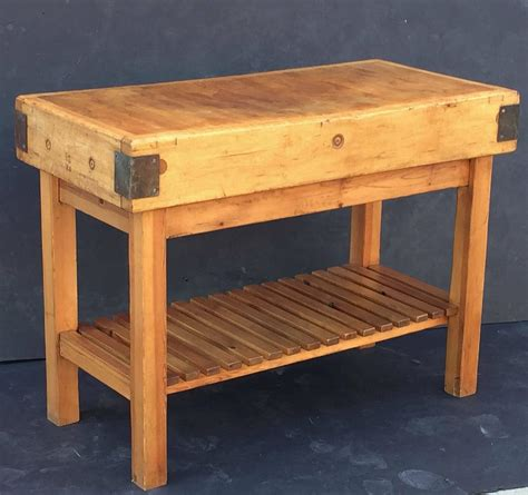 butcher block stand large butcher s block on stand at 1stdibs