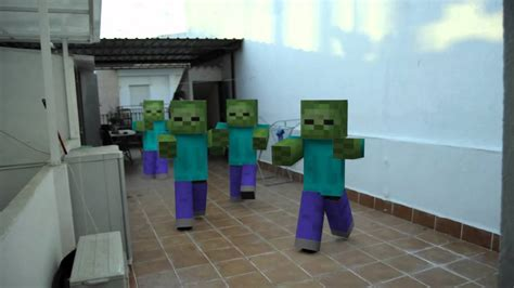 minecraft la invasian de zombie minecraft en la vida real youtube