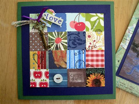 Patchwork Cards - patchwork quilt card dianne faw