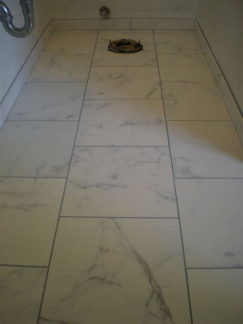 faux marble custom tile bathroom floor and shower redding ca quality custom tile contractor