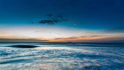 wallpaper  ocean sea horizon sunset