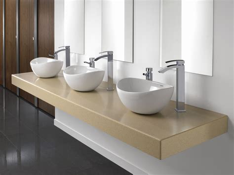 cantilevered bathroom vanity cantilever vanity unit solid surface bushboard washrooms