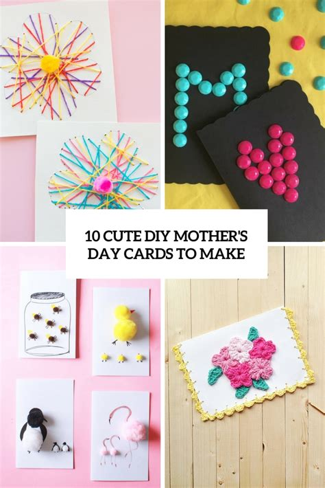 diy mother s day card 10 cute diy mother s day cards to make shelterness
