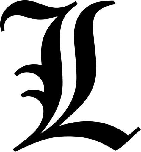 L Font by Letter L Initial Decal 9 75 Quot Choose Color Ebay
