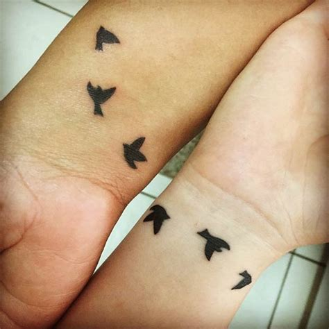 small mother daughter tattoos 66 amazing mother daughter tattoos swallow tattoo