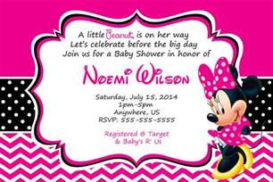 how to make minnie mouse baby shower invitations templates