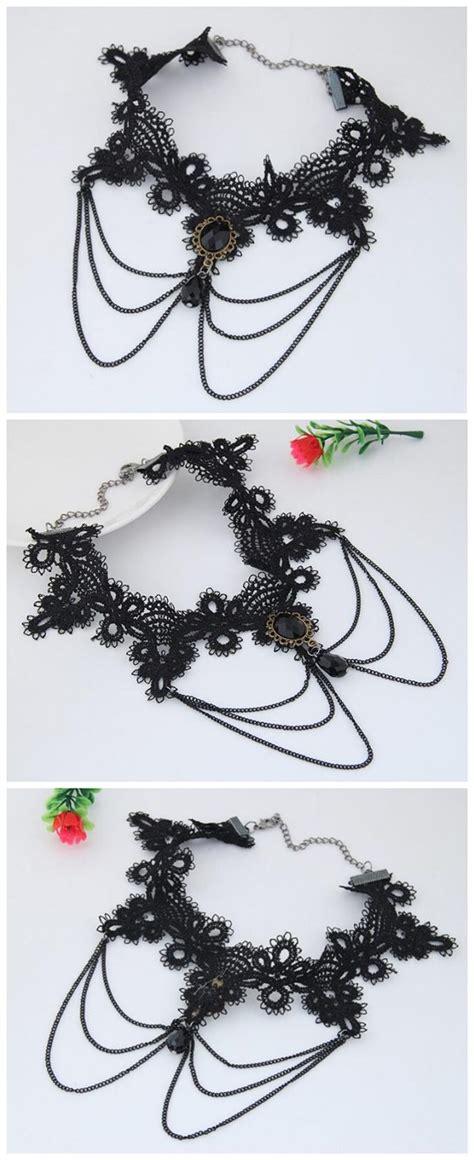 Kalung Fashion Chain Decorated Tassel Design gem waterdrop pendant decorated chain tassel fashion lace