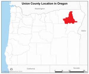 free and open source location map of union county oregon