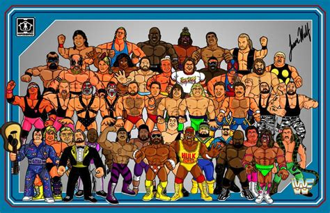 classic wwf wallpaper wwf 1989 roster poster by jason wolf i believe maybe