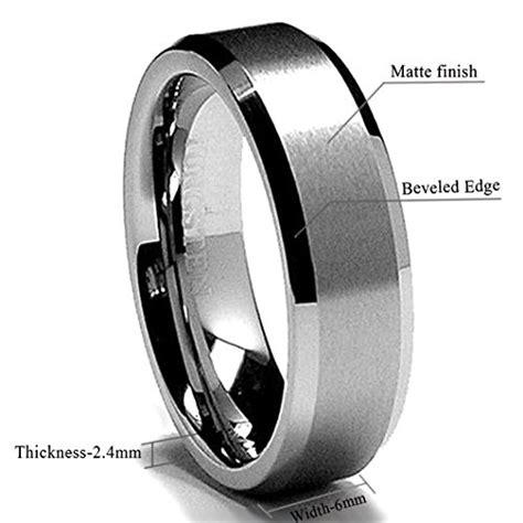 tungsten comfort fit king will 6mm tungsten men s wedding band ring in comfort