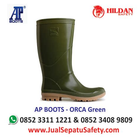 Sepatu Boot Karet Merk Ap harga sepatu karet ap boots orca jualsepatusafety