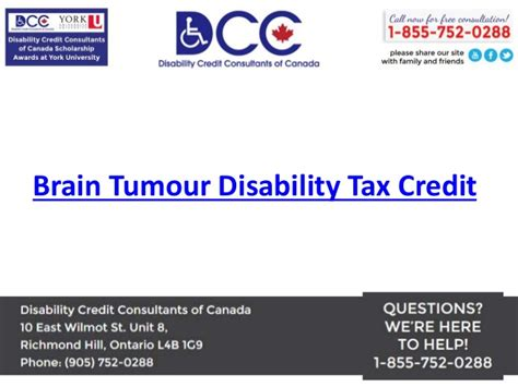 Disability Tax Credit Form Brain Tumour Disability Tax Credit Disability Credit Consultants