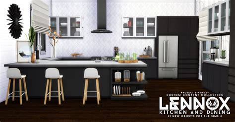 Kitchen Set A Others simsational designs lennox kitchen and dining set