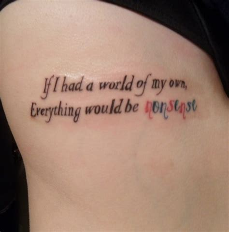 quote tattoo tumblr blogs alice in wonderland quote tattoos pinterest