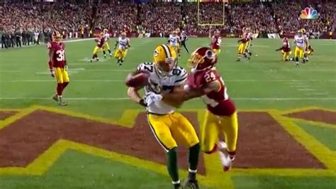 jordy nelson highlights today packers vs redskins highlights jordy nelson scores td on