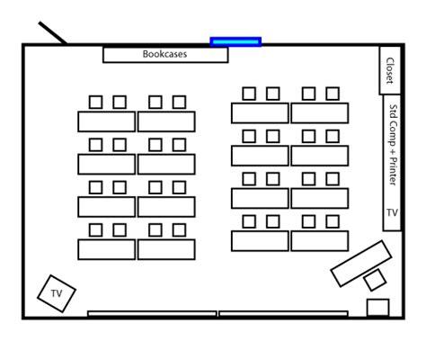 diagram of classroom my high school classroom