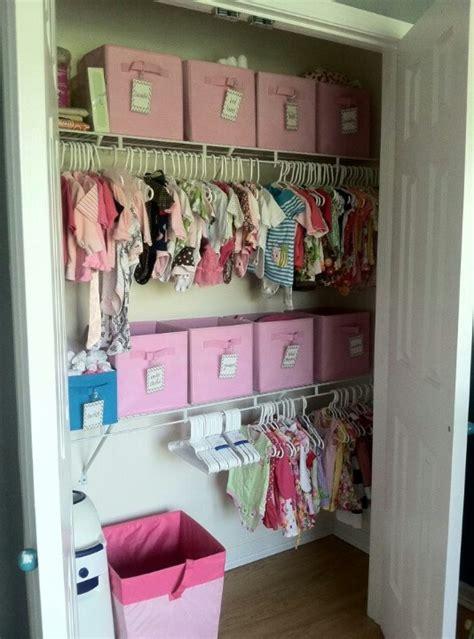 Baby Closet Organization Ideas by Storage Idea For Baby Closet Add A Second Lower Shelf