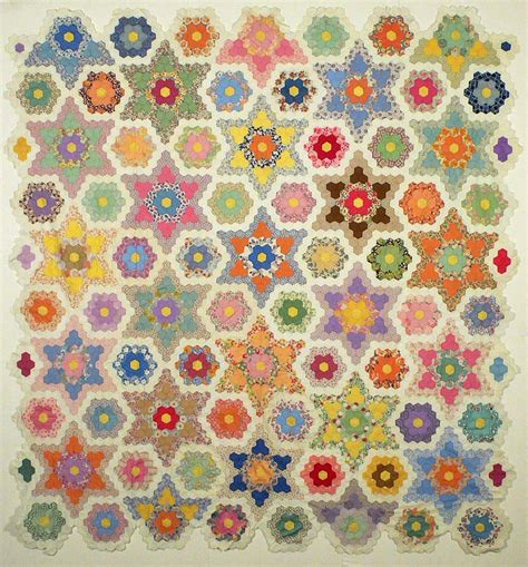 Hexagon Patchwork - barbara brackman s material culture hexagons again