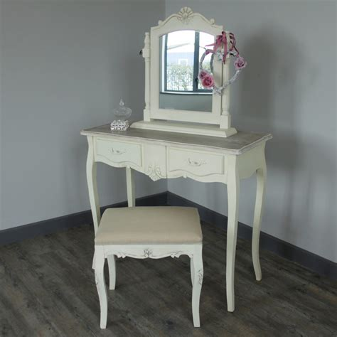 cream oval metal vanity mirror shabby french chic home cream wooden dressing table set mirror stool shabby french