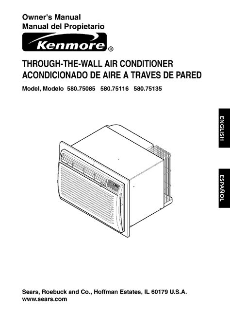 kenmore air conditioner 580 75085 user guide manualsonline