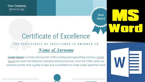 tutorial video word how to design a certificate from scratch in ms word