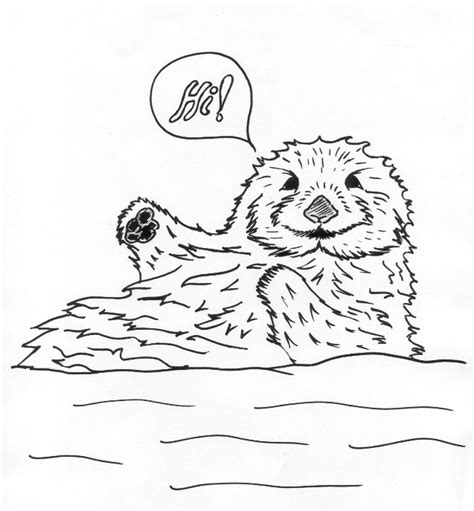 sea otter diagram easy sea otter coloring pages drawing grig3 org