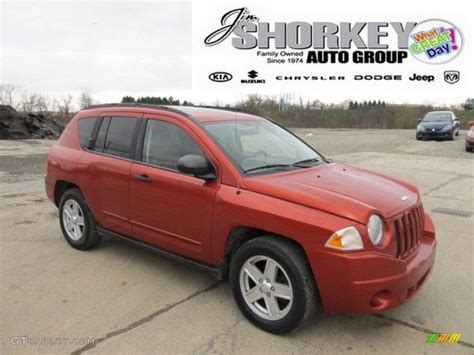 orange jeep compass 2008 sunburst orange pearl jeep compass sport 4x4