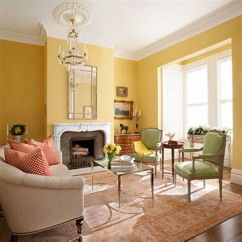 Yellow Walls Living Room | yellow living room design ideas