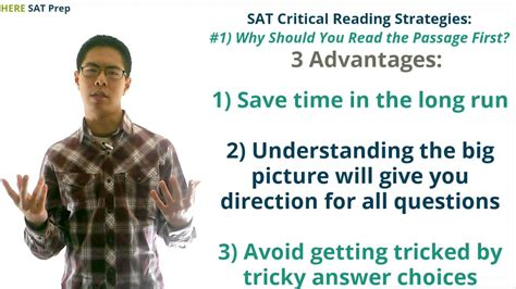 tips for reading section of sat sat critical reading strategies part 1 why reading the