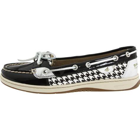 sperry top sider womens angelfish shoe in black black
