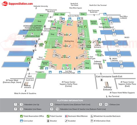 Home Floor Plan Drawing by Sapporo Station Map Layout And Facilities Sapporo Station