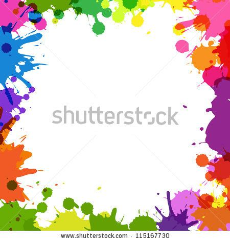 vector pattern with colorful blobs colorful border stock images royalty free images