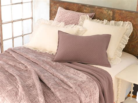 plum coverlet soft textured dusty plum purple velvet coverlet shams