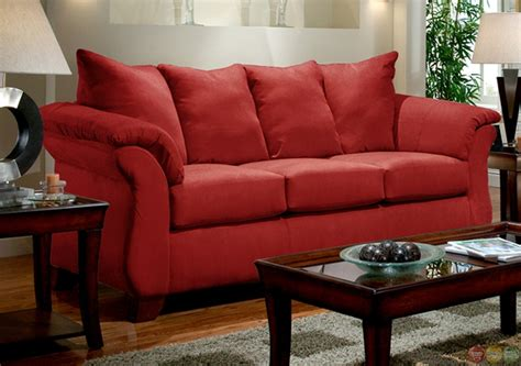 red living room chair modern red sofa loveseat living room furniture set