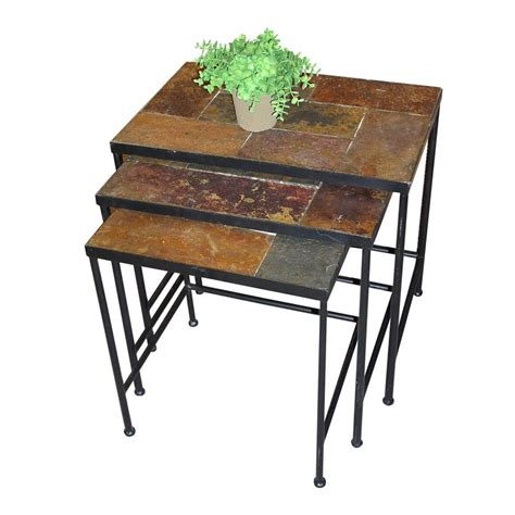 slate accent table shop 4d concepts 3 piece slate accent table set at lowes com