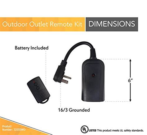 woods 32555wd outdoor wireless remote kit