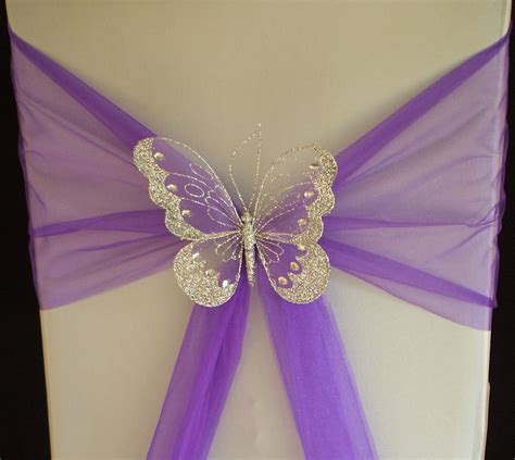 Butterfly Wedding by Xl Butterfly Wedding Chair Sash Decoration Top Table Gold